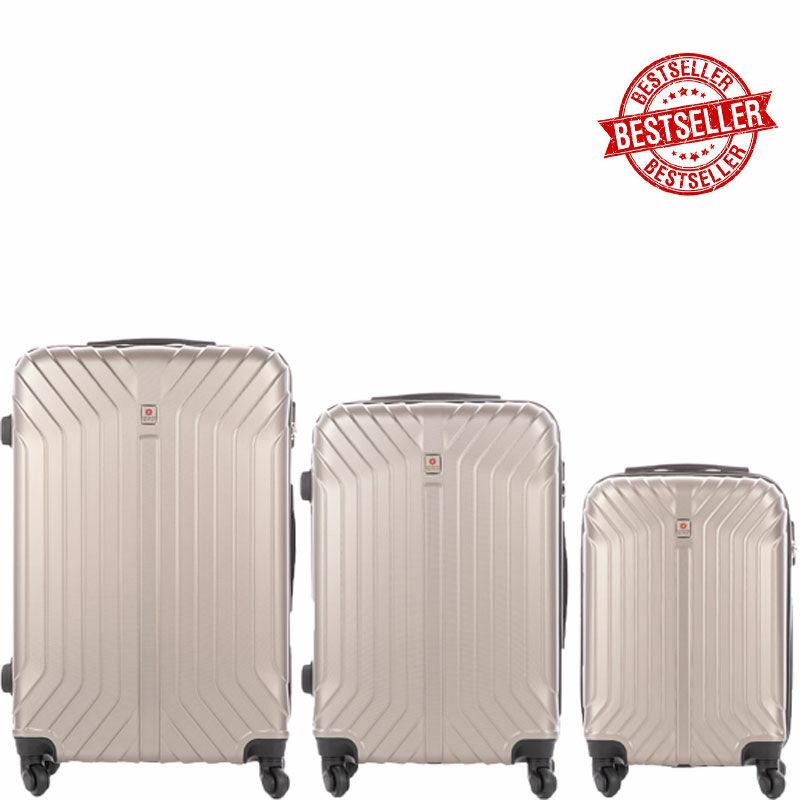 6a985d926ace LEONARDO DA VINCI 507 3 db-os bőrönd szett Pezsgő színben Katt rá a  felnagyításhoz