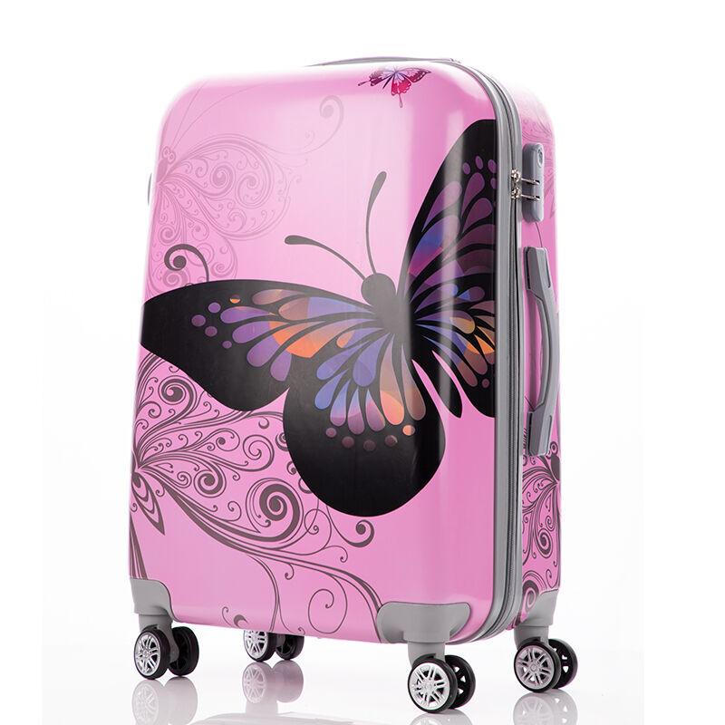b11560b79ff0 Bőrönd szett 3 részes-Pink Butterfly - Akciós bőrönd - Bőröndöt ...