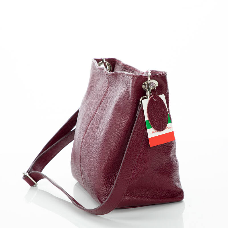 6badc5123a Valódi bőr női táska bordó színben - Oldaltáska - Bőröndöt, koffert ...